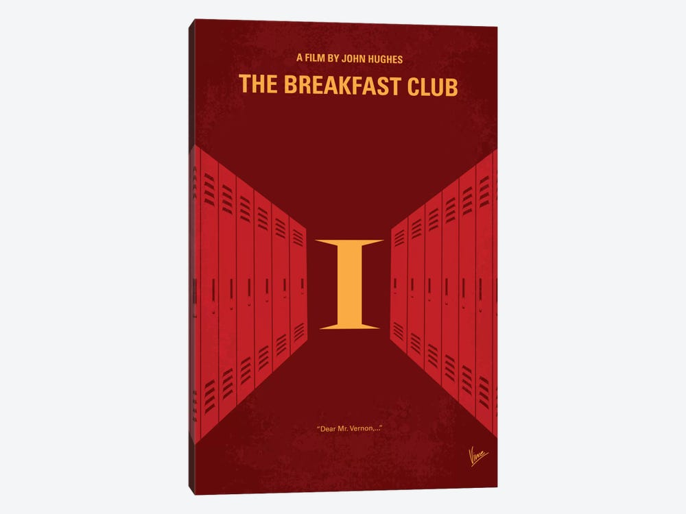 The Breakfast Club Minimal Movie Poster by Chungkong 1-piece Canvas Print