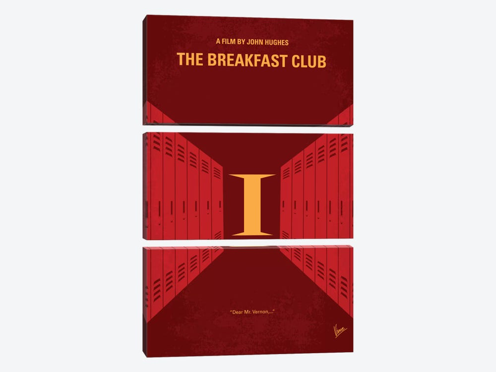 The Breakfast Club Minimal Movie Poster by Chungkong 3-piece Canvas Art Print