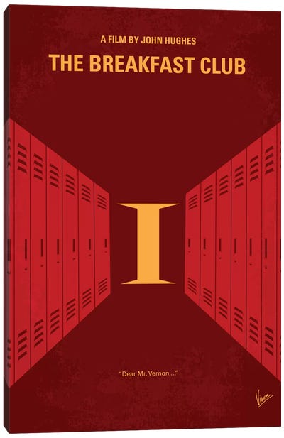 The Breakfast Club Minimal Movie Poster Canvas Art Print