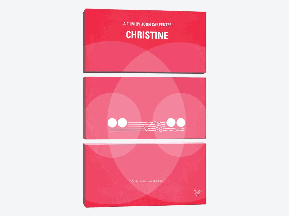 Christine Minimal Movie Poster by Chungkong 3-piece Art Print