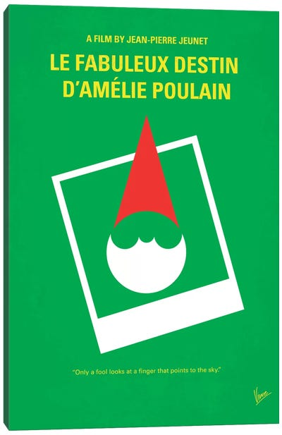 Amelie Minimal Movie Poster Canvas Art Print