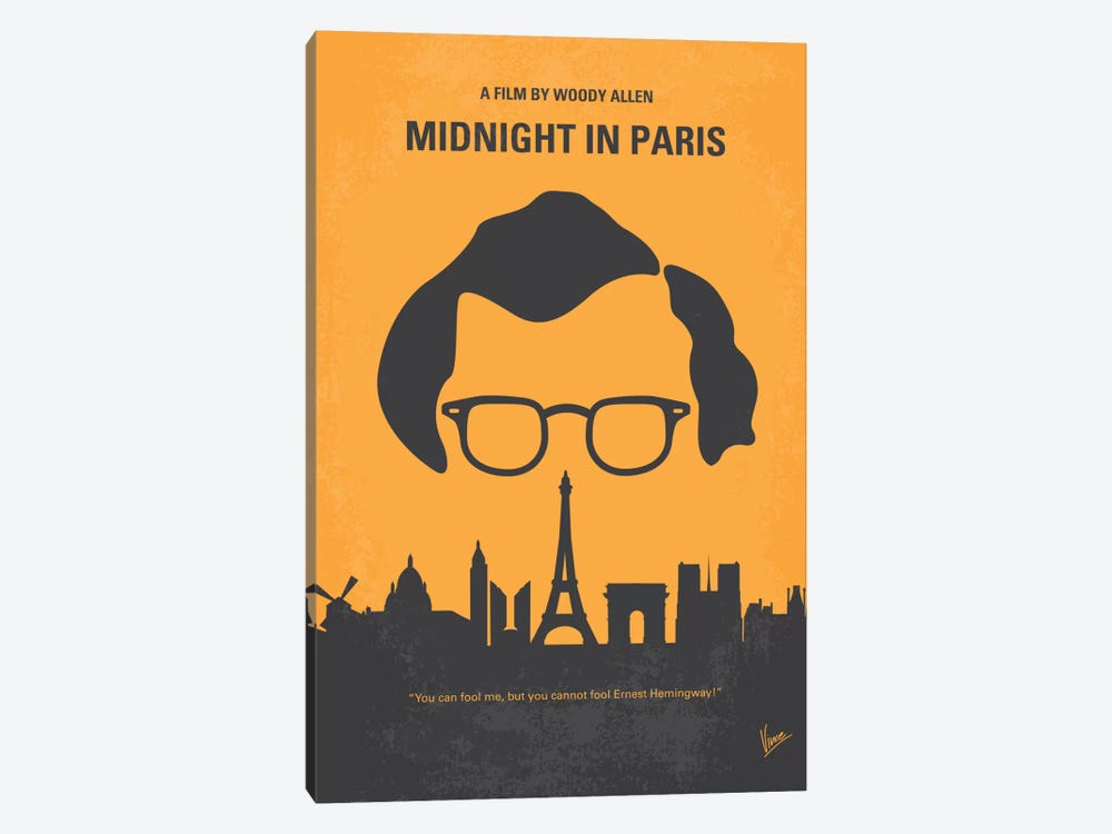 Midnight In Paris Minimal Movie Poster by Chungkong 1-piece Art Print