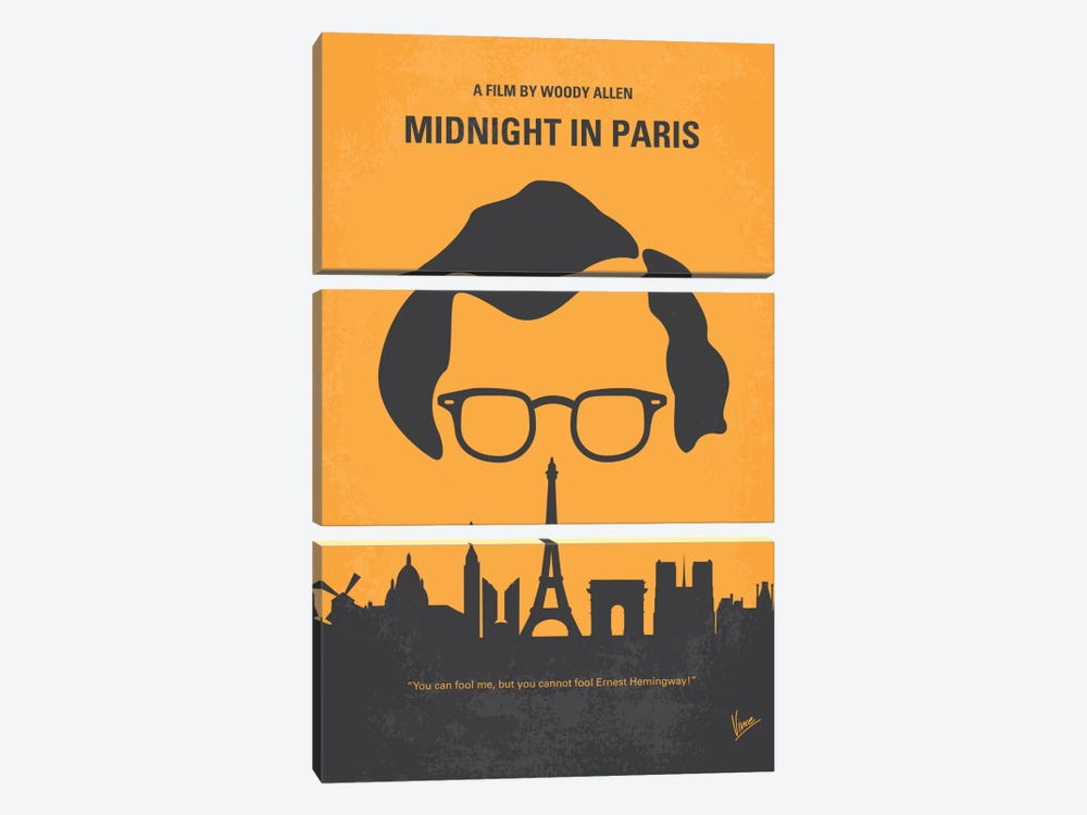 Midnight In Paris Minimal Movie Poster 3-piece Art Print