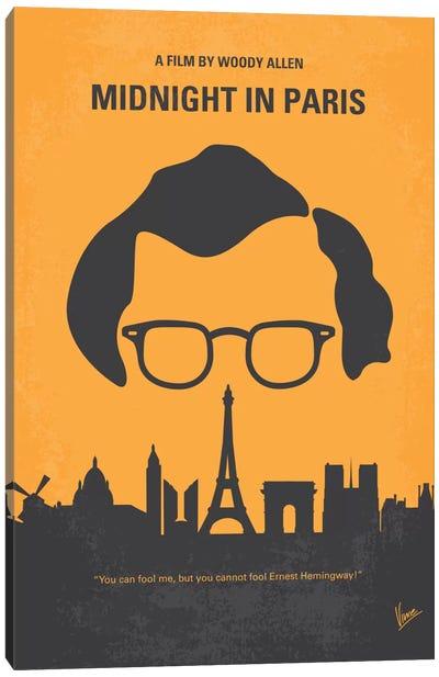 Midnight In Paris Minimal Movie Poster Canvas Art Print