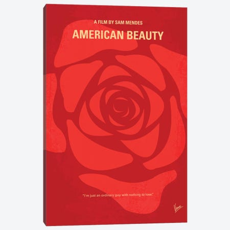 American Beauty Minimal Movie Poster Canvas Print #CKG323} by Chungkong Canvas Artwork