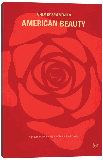 American Beauty Minimal Movie Poster Canvas Art Print