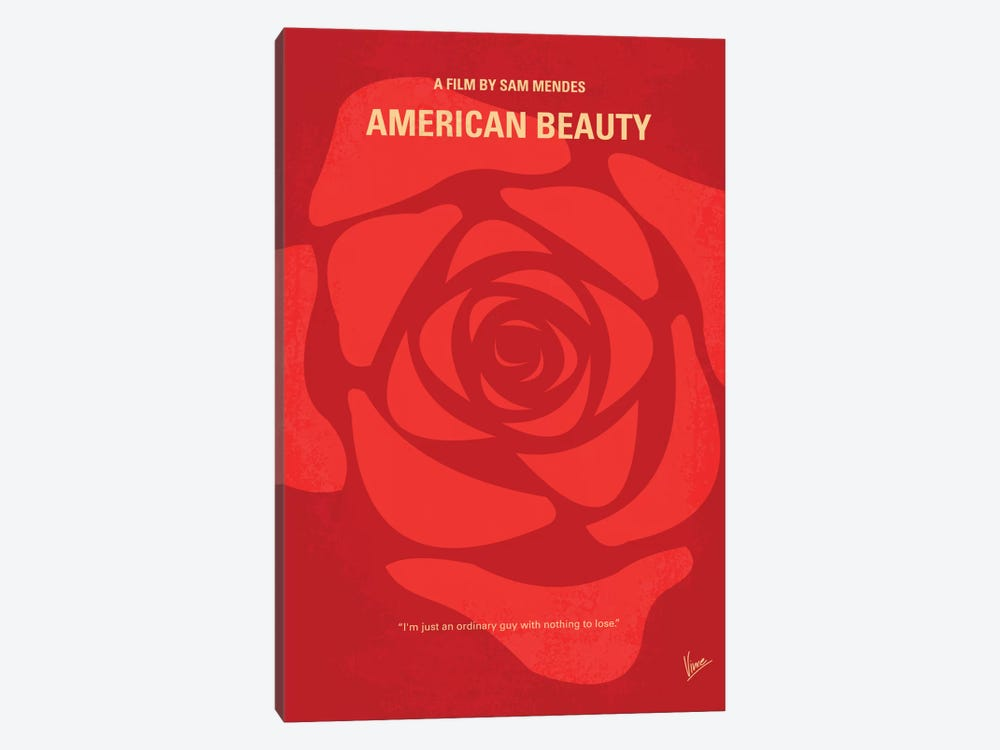 American Beauty Minimal Movie Poster by Chungkong 1-piece Canvas Art