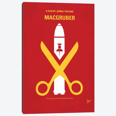 MacGruber Minimal Movie Poster Canvas Print #CKG327} by Chungkong Art Print
