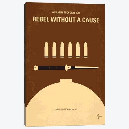 Rebel Without A Cause Minimal Movie Poster Canvas Print #CKG328} by Chungkong Canvas Art