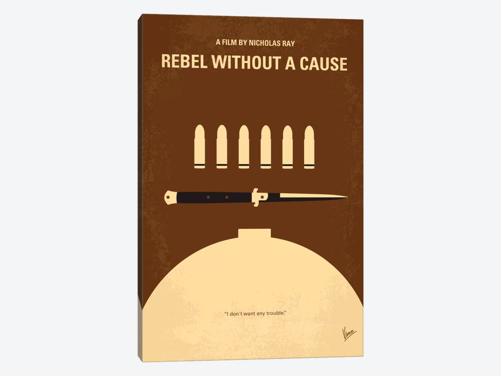 Rebel Without A Cause Minimal Movie Poster by Chungkong 1-piece Canvas Print