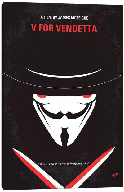 V For Vendetta Minimal Movie Poster Canvas Art Print
