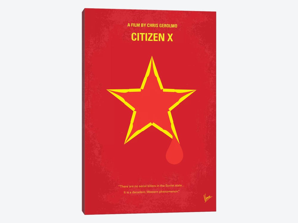 Citizen X Minimal Movie Poster by Chungkong 1-piece Canvas Wall Art