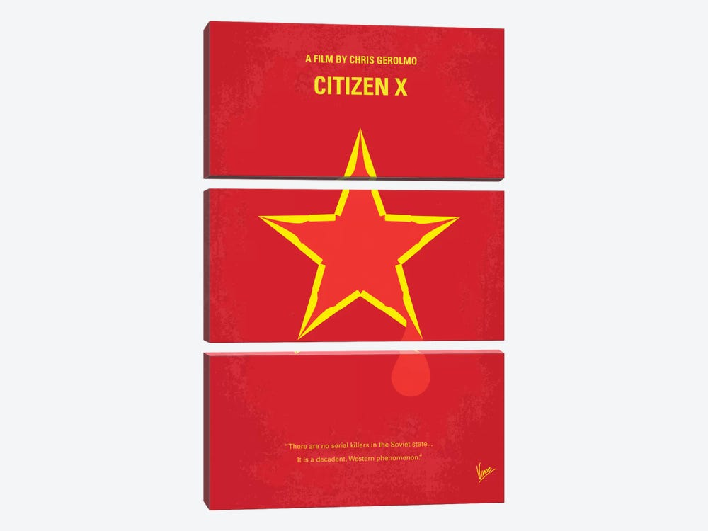 Citizen X Minimal Movie Poster by Chungkong 3-piece Canvas Artwork