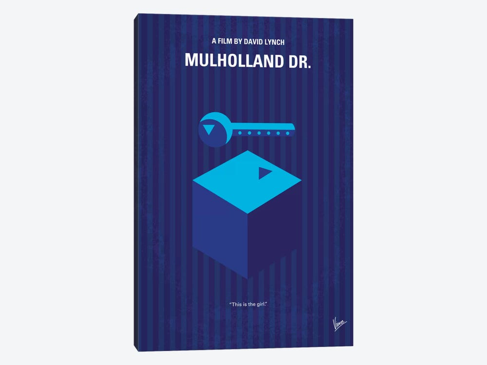Mulholland Drive Minimal Movie Poster by Chungkong 1-piece Canvas Wall Art