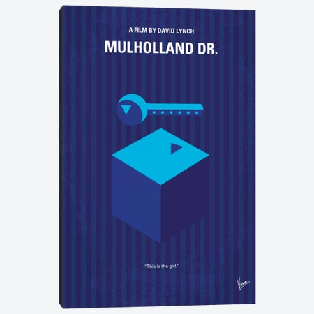 Mulholland Drive Minimal Movie Poster Canvas Print #CKG332} by Chungkong Canvas Print