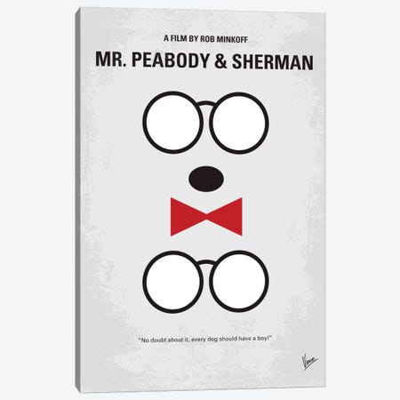 Mr. Peabody & Sherman Minimal Movie Poster Canvas Print #CKG333} by Chungkong Art Print