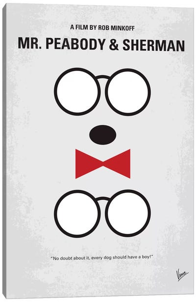 Mr. Peabody & Sherman Minimal Movie Poster Canvas Art Print
