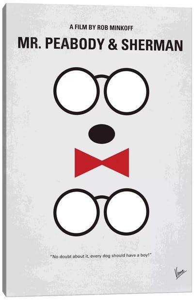 Mr. Peabody & Sherman Minimal Movie Poster Canvas Art Print