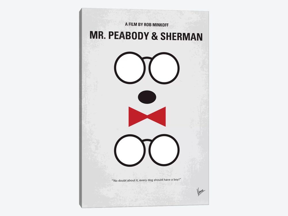 Mr. Peabody & Sherman Minimal Movie Poster by Chungkong 1-piece Canvas Print