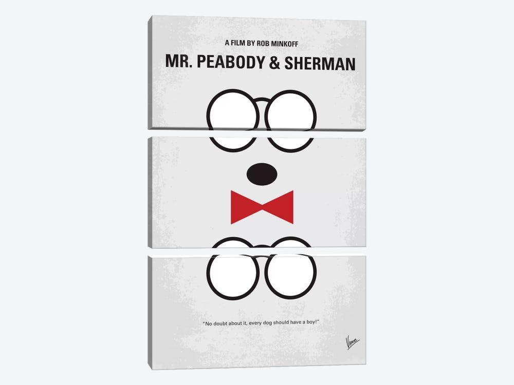 Mr. Peabody & Sherman Minimal Movie Poster by Chungkong 3-piece Canvas Print