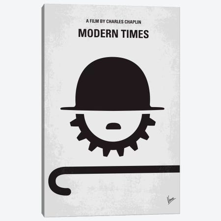 Modern Times Minimal Movie Poster Canvas Print #CKG334} by Chungkong Canvas Art