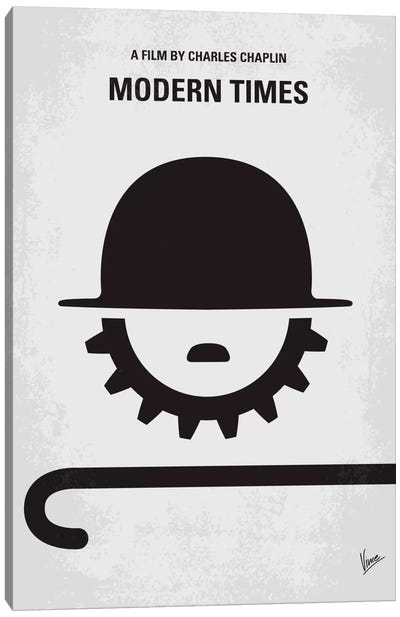 Modern Times Minimal Movie Poster Canvas Art Print