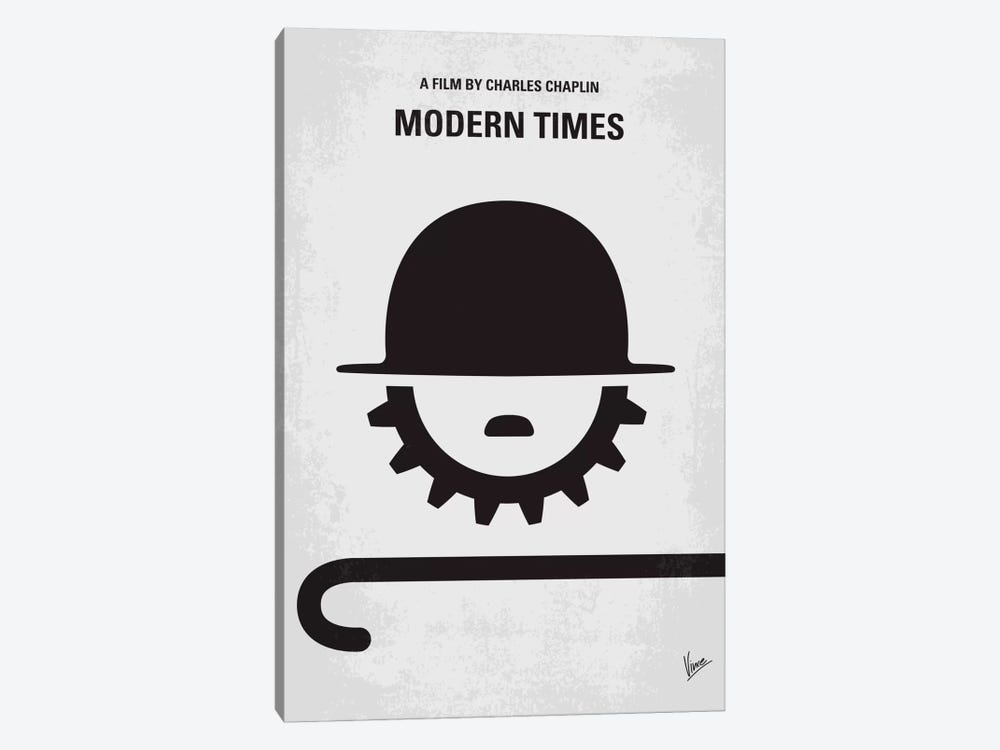 Modern Times Minimal Movie Poster by Chungkong 1-piece Canvas Art