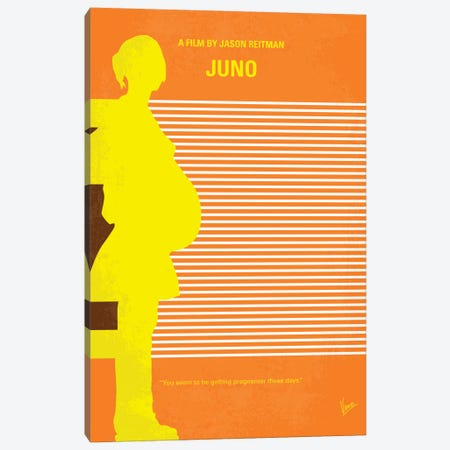 Juno Minimal Movie Poster Canvas Print #CKG335} by Chungkong Canvas Wall Art