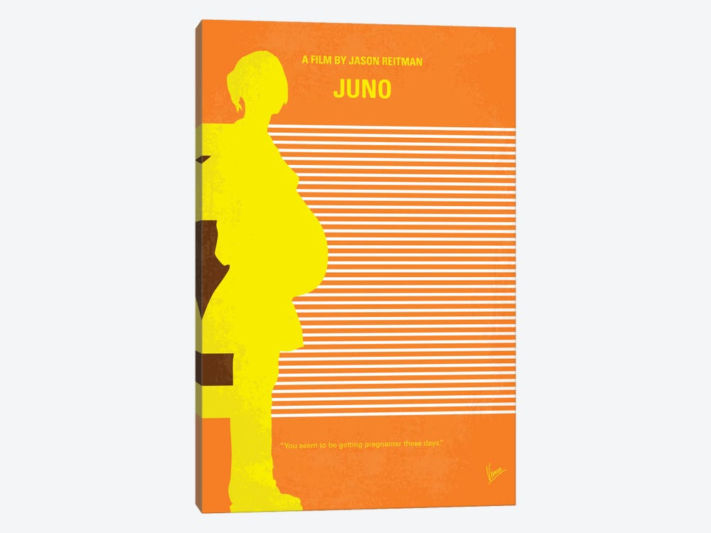 Juno Minimal Movie Poster by Chungkong 1-piece Canvas Art Print
