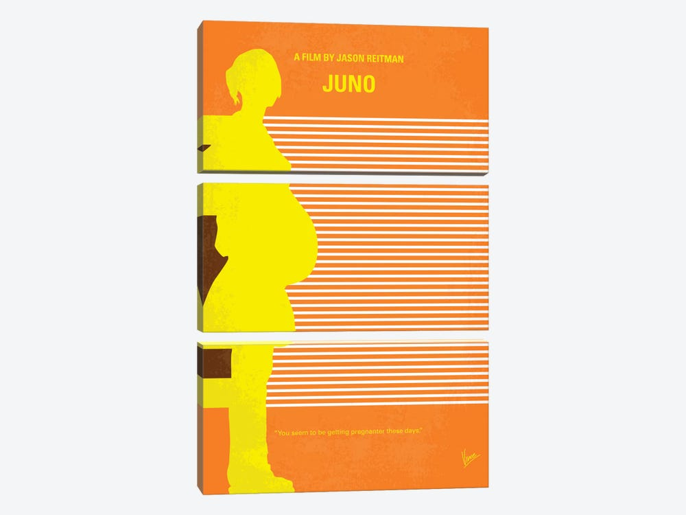 Juno Minimal Movie Poster by Chungkong 3-piece Canvas Art Print