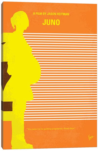 Juno Minimal Movie Poster Canvas Art Print