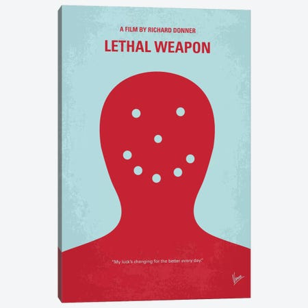 Lethal Weapon Minimal Movie Poster Canvas Print #CKG336} by Chungkong Canvas Art