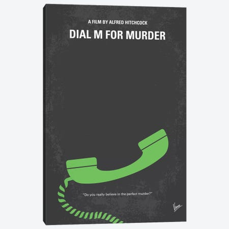 Dial M For Murder Minimal Movie Poster Canvas Print #CKG337} by Chungkong Canvas Wall Art
