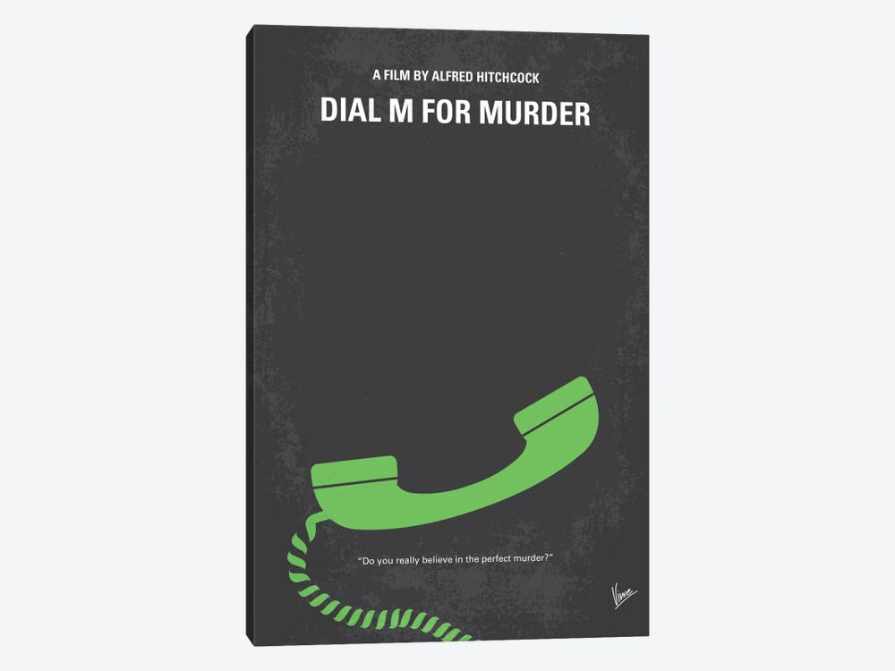 Dial M For Murder Minimal Movie Poster by Chungkong 1-piece Canvas Art Print