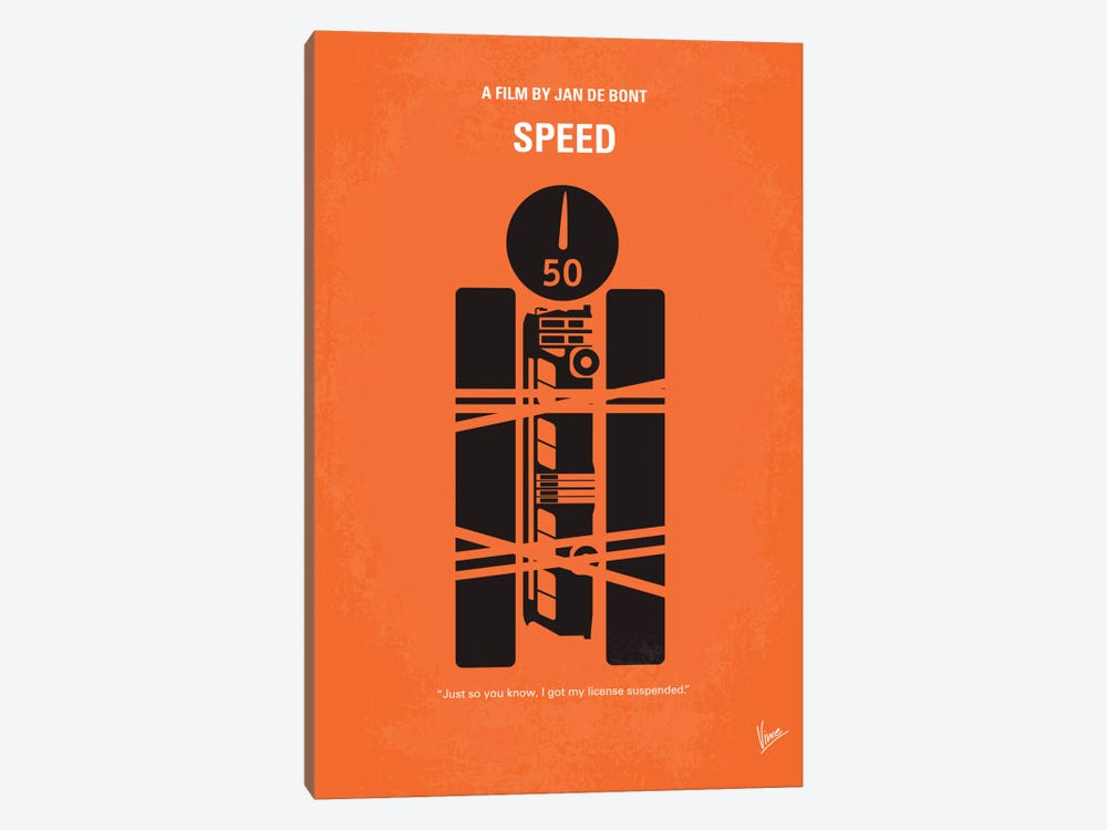 Speed Minimal Movie Poster by Chungkong 1-piece Canvas Wall Art