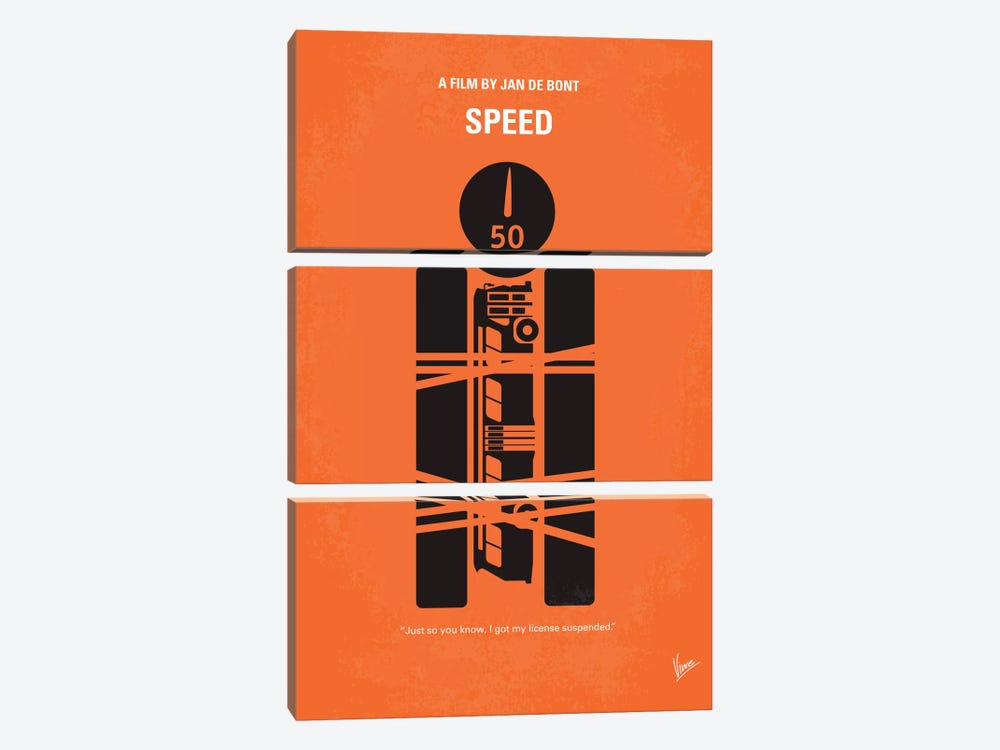 Speed Minimal Movie Poster by Chungkong 3-piece Canvas Artwork