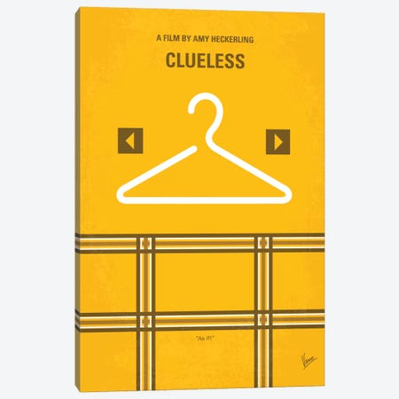 Clueless Minimal Movie Poster Canvas Print #CKG339} by Chungkong Canvas Print