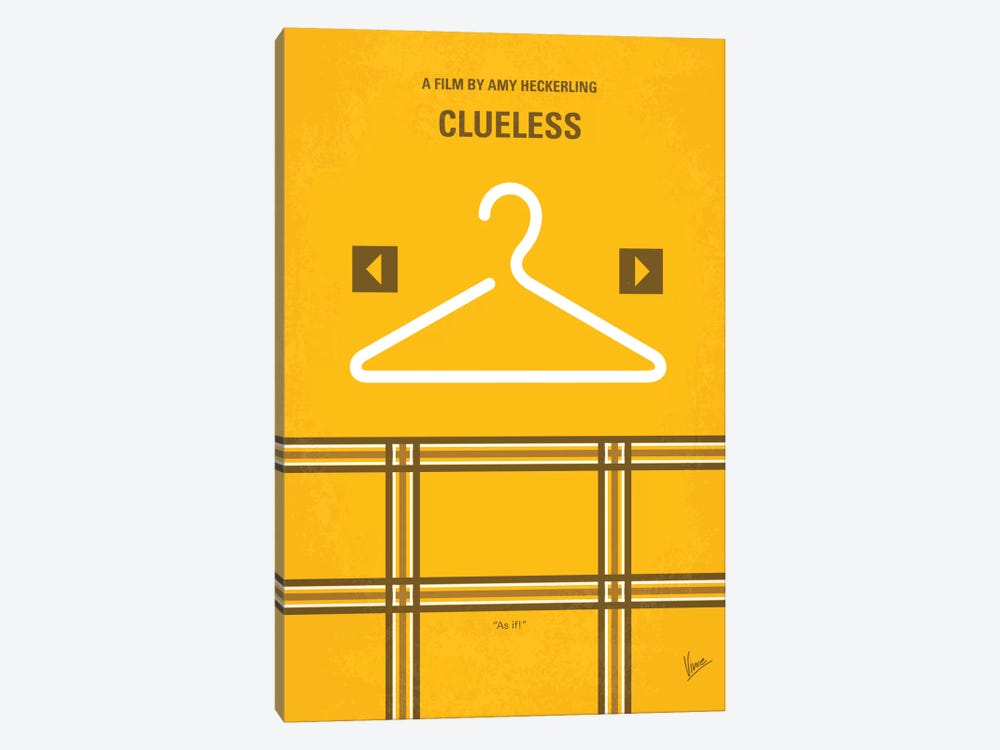 Clueless Minimal Movie Poster 1-piece Canvas Art Print