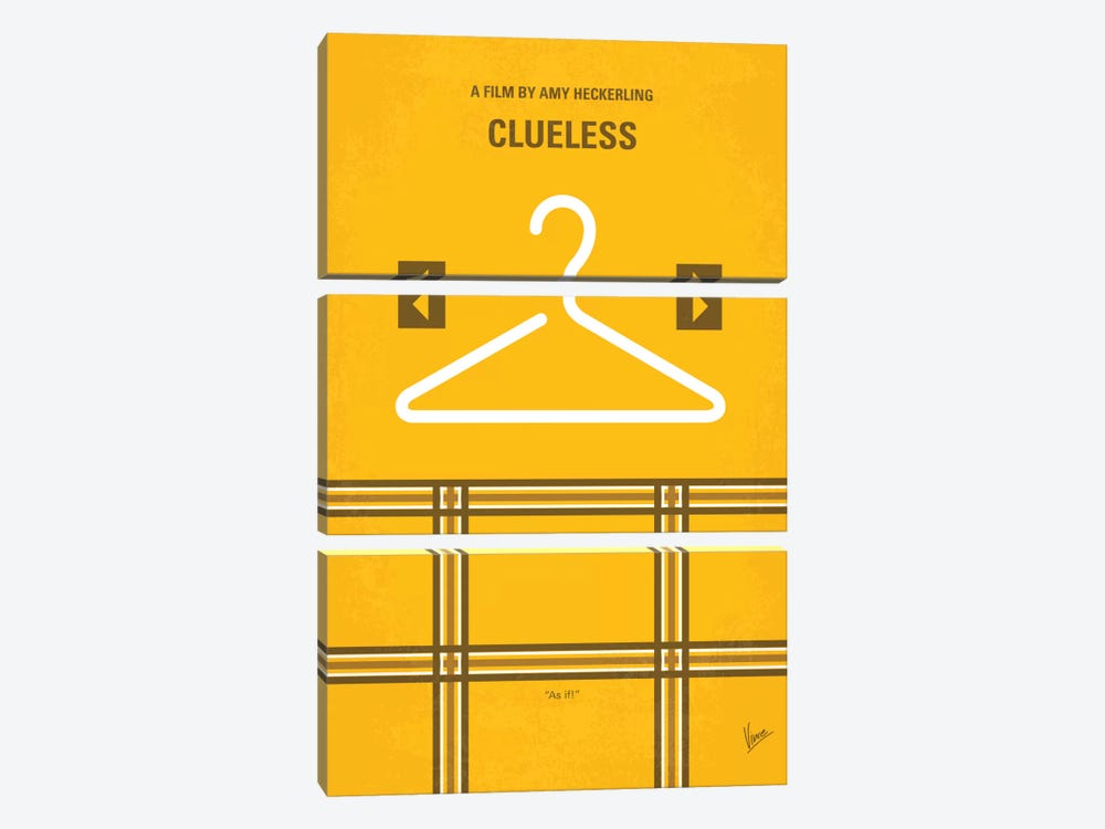 Clueless Minimal Movie Poster 3-piece Canvas Art Print