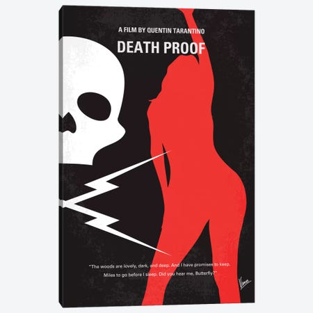 Deathproof Minimal Movie Poster Canvas Print #CKG33} by Chungkong Canvas Wall Art