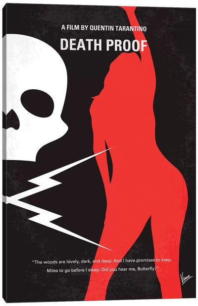 Deathproof Minimal Movie Poster Canvas Art Print