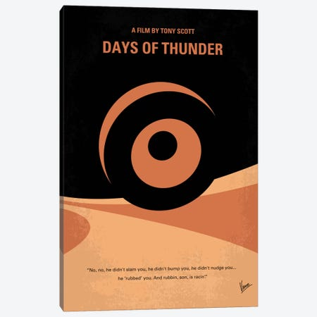 Days Of Thunder Minimal Movie Poster Canvas Print #CKG340} by Chungkong Canvas Artwork