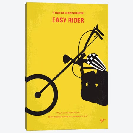 Easy Rider Minimal Movie Poster Canvas Print #CKG341} by Chungkong Canvas Art