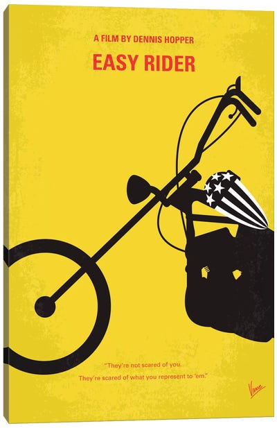 Easy Rider Minimal Movie Poster Canvas Print #CKG341