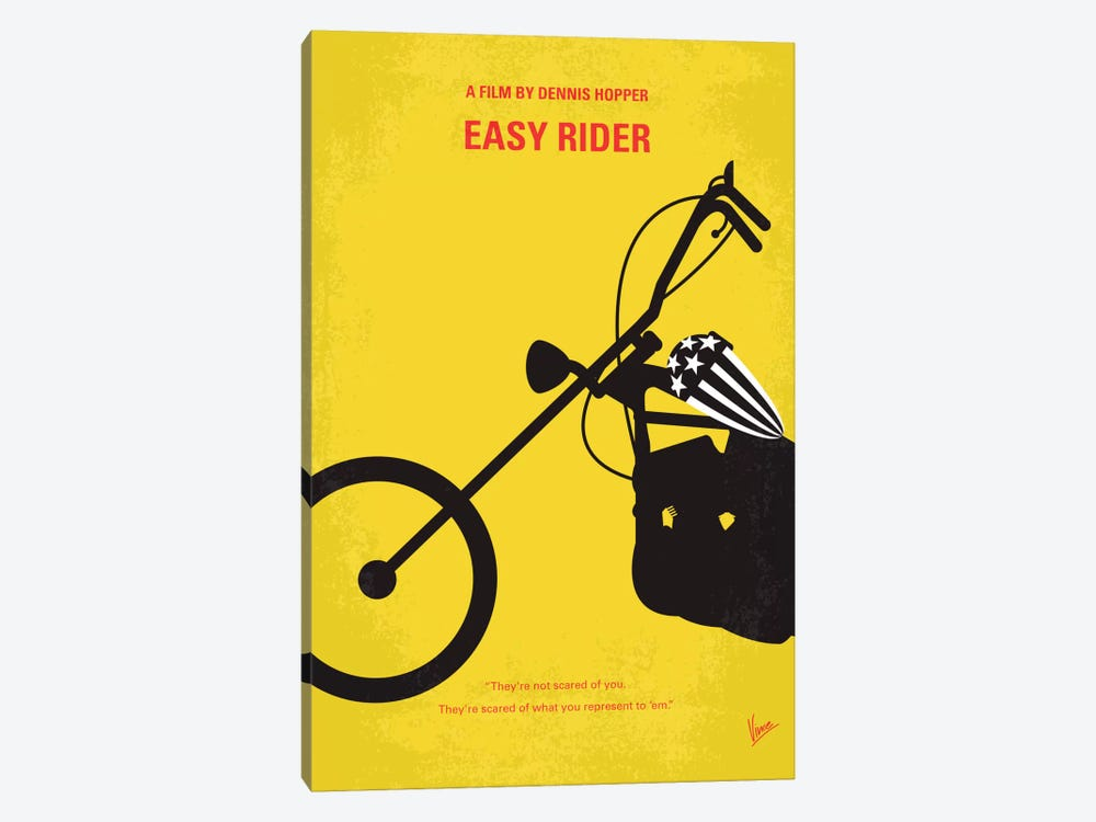Easy Rider Minimal Movie Poster Canvas Wall Art by Chungkong | iCanvas
