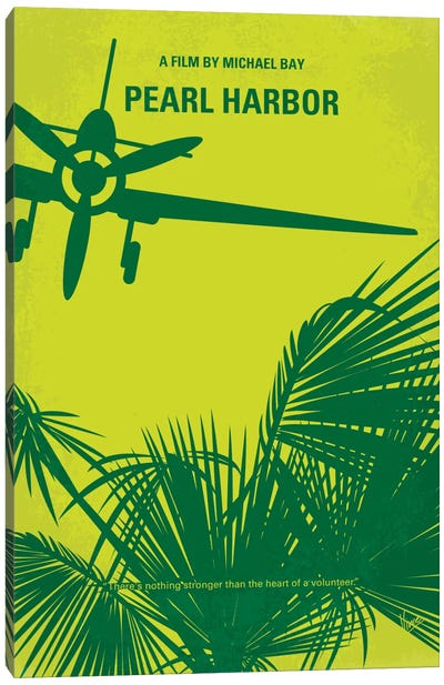 Pearl Harbor Minimal Movie Poster Canvas Art Print