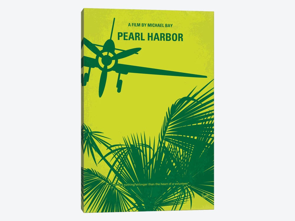 Pearl Harbor Minimal Movie Poster by Chungkong 1-piece Canvas Art