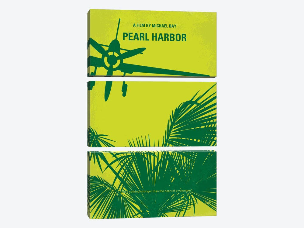 Pearl Harbor Minimal Movie Poster by Chungkong 3-piece Canvas Art