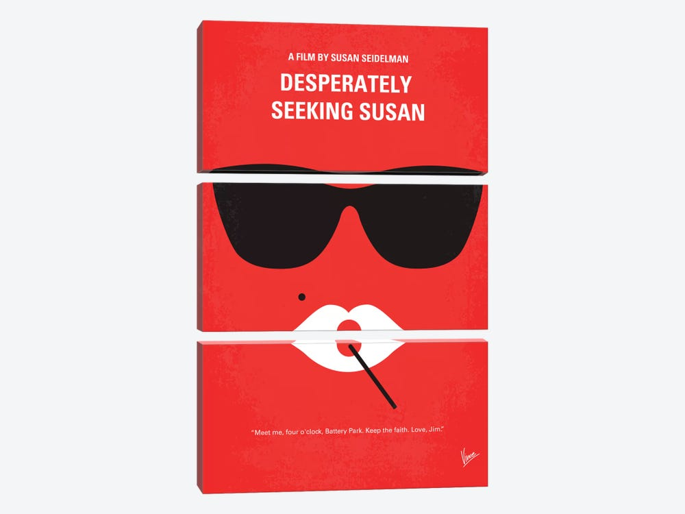 Desperately Seeking Susan Minimal Movie Poster by Chungkong 3-piece Art Print