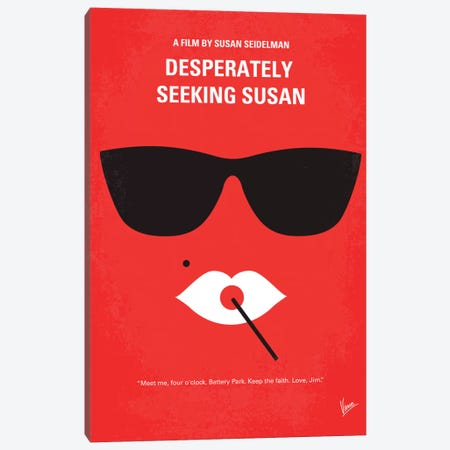 Desperately Seeking Susan Minimal Movie Poster 3-Piece Canvas #CKG344} by Chungkong Art Print